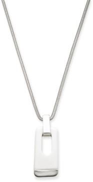 "Alfani Gold-Tone & Black Acrylic Large Link 34"" Pendant Necklace, Created for Macy's"
