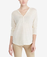 Lauren Ralph Lauren Petite Lace-Up Jersey Tunic
