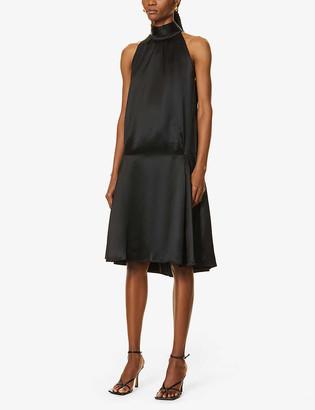 Victoria Victoria Beckham Flared satin midi dress