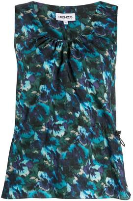 Kenzo Floral-Print Sleeveless Top