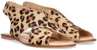 Maruti Beige Cheetah Vlinder Sandal - 38 - Natural/Brown