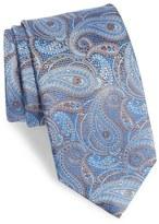 David Donahue Paisley Floral Silk Tie