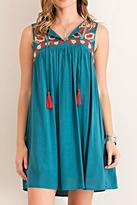 Entro Embroidered Shift Dress