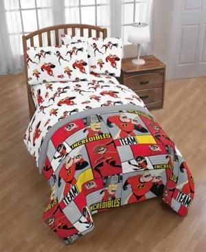 Disney Pixar The Incredibles 2 Super Family Twin Comforter Bedding