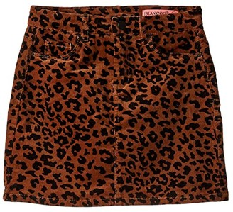 Blank NYC Kids Corduroy Leopard Skirt (Big Kids) (Jungle Cat) Girl's Skirt