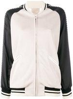 Laneus eagle embroidery bomber jacket - women - Polyester/Spandex/Elastane/Acetate/Viscose - 42