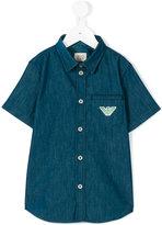 Armani Junior shortsleeved denim shirt - kids - Cotton - 4 yrs