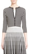 Tomas Maier Women's Stripe Cropped Cardigan