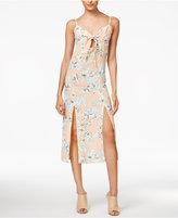 MinkPink Palm Springs Printed Tie-Front Dress