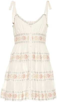 Zimmermann Exclusive to Mytheresa a Veneto cotton and silk minidress