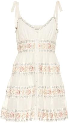 Zimmermann Exclusive to Mytheresa a Veneto cotton and silk minidress