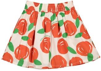 Stella McCartney Kids Clementine-print cotton skirt