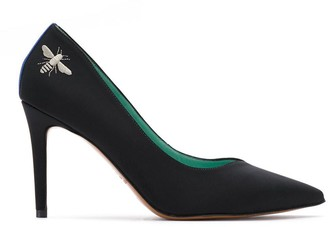 Blue Bird Shoes Embroidered Pumps
