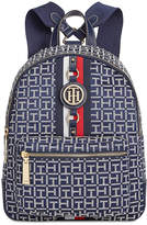 Tommy Hilfiger Jaden Monogram Jacquard Small Backpack