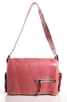 Francesco Biasia Pink Leather Medium Fold Over Shoulder Handbag