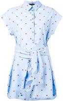 Moschino polka-dot pinstripe shirt dress - women - Cotton - 46
