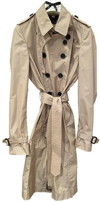Burberry Pink Polyester Trench coats