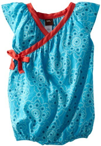 Tea Collection Baby-Girls Infant Ocean Jewel Wrap Romper