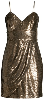 Parker Black Guayana Metallic Mini Dress