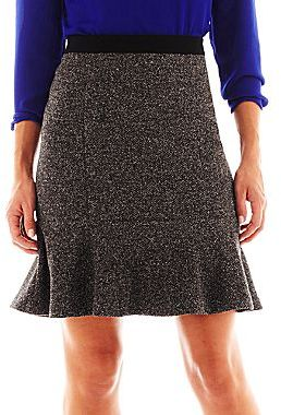 Liz Claiborne Tweed and Ponte Knit Trumpet Skirt