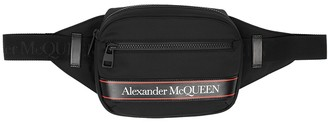 Alexander McQueen Black logo canvas belt bag