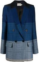 Mary Katrantzou ombre check print blazer
