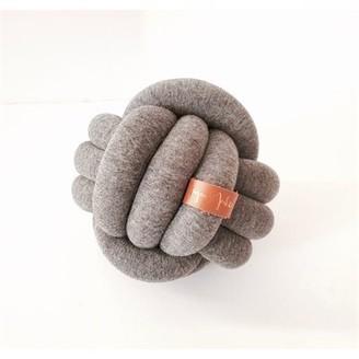 Juju & Jake Mini Knot Pillow - Dark Grey