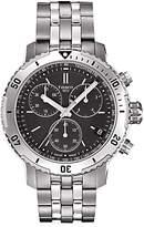 Tissot T0674171105101 T-sport Prs200 Chronograph Date Bracelet Strap Watch, Silver/black
