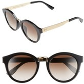 Jimmy Choo Women's 'Pepys' 50Mm Retro Sunglasses - Black