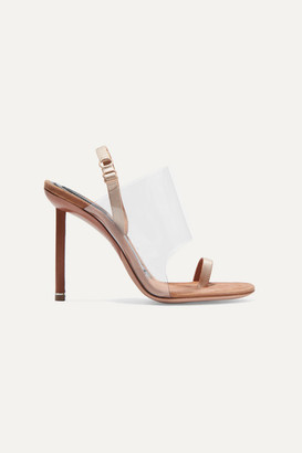 Alexander Wang Kaia Pvc And Suede Slingback Sandals - Neutral