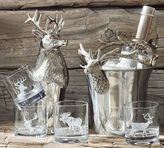 Pottery Barn Silver Stag Figural Ice Bucket