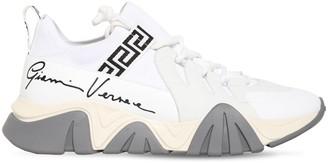 Versace 50mm Squalo Knit Sock Sneakers