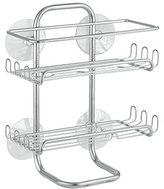 InterDesign Classico Suction Shower Shelves, Satin