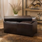 Christopher Knight Home Drake 3-piece Faux Leather Tray Top Nested Storage Ottoman Bench