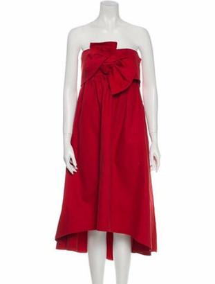 Ulla Johnson Strapless Mini Dress Red