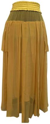 Christian Dior Yellow Silk Skirts