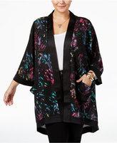 Melissa McCarthy Trendy Plus Size Printed Kimono