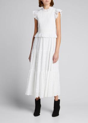 Sea Ingrid Smocked Midi Dress