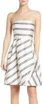 Halston Women's Strapless Stripe Dress