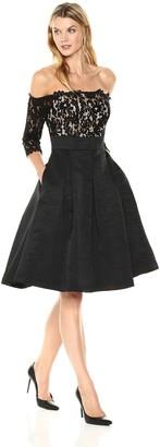 Brinker & Eliza Women's Lace Bodice Off-The-Shoulder Dress
