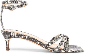BY FAR Kaia Snake Print Leather Sandal in Graphic | FWRD