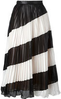 Marco De Vincenzo leather effect pleated skirt