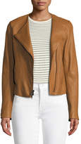 Vince Cross-Front Leather Jacket