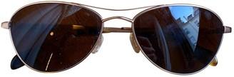 Oliver Peoples Gold Metal Sunglasses