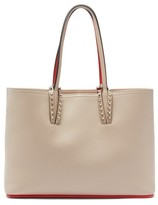 Christian Louboutin Cabata Small Grained-leather Tote Bag - Womens - Beige Multi