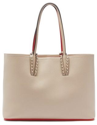 Christian Louboutin Cabata Small Grained-leather Tote Bag - Beige Multi
