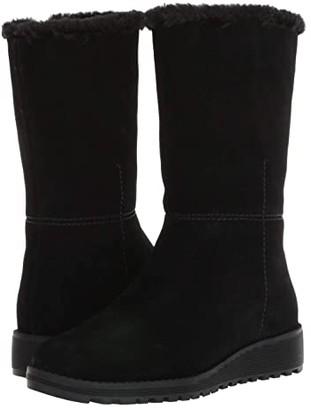VALDINI Sofia Waterproof Boot (Black Suede) Women's Shoes