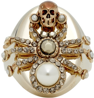 Alexander McQueen Gold Spider Ring