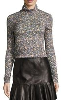 Rebecca Taylor Lavish Floral Turtleneck Top