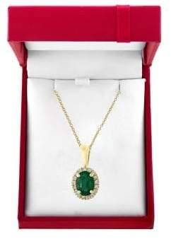 Effy Brasilica Emerald & Diamond Pendant Necklace